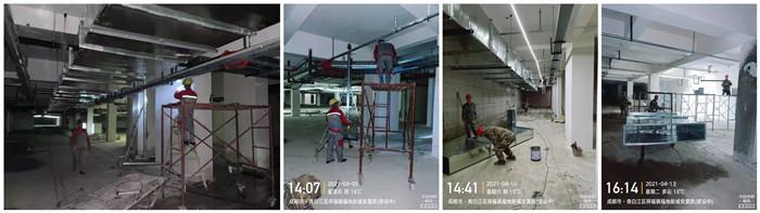4月2日 青白江福地新城项镀锌钢到现场700