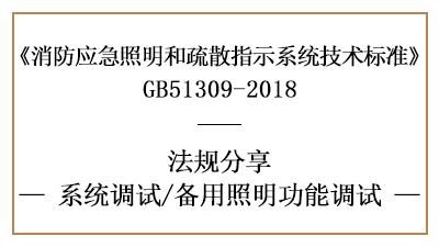 备用照明功能调试规定与要求-四川国晋消防分享